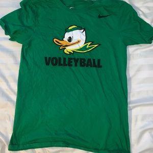 Green Nike University of Oregon Volleyball shirt